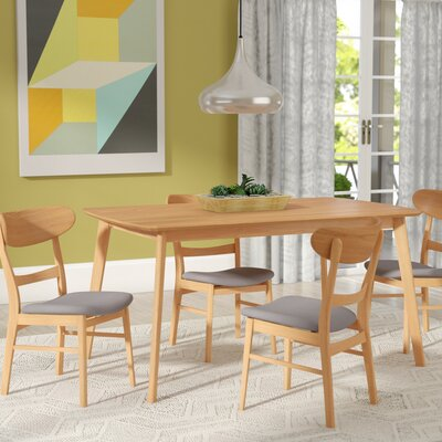 Yolanda 5 Piece Rubberwood Dining Set Finish: Oak
