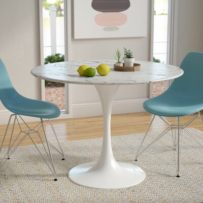 Julien Artificial Marble Dining Table Size: 29.5 H x 40 W x 40 D