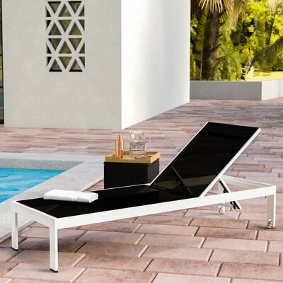 Belterra Chaise Lounge Fabric: Black