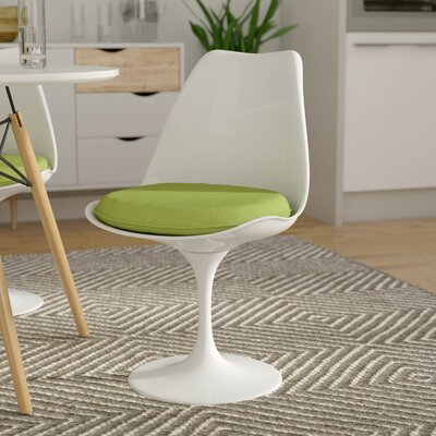 Julien Side Chair Upholstery: Green