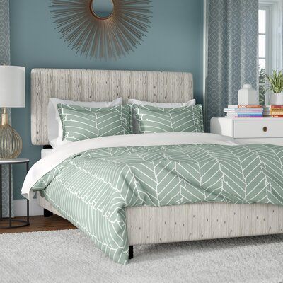 Buhr Linen Upholstered Panel Bed Size: Queen