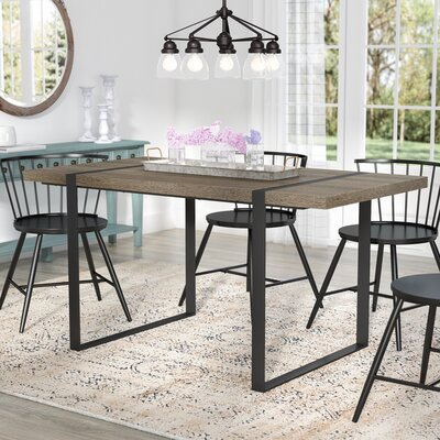 Madelyn Urban Blend Wood Dining Table Dining Table Finish: Driftwood