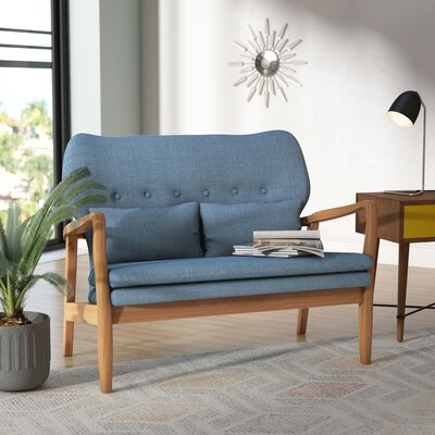 Punta Gorda Mulberry Loveseat Upholstery: Blue