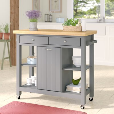 Aldridge Kitchen Cart Base Finish: Light Gray