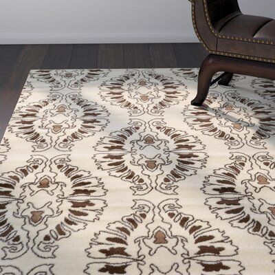Samantha White Area Rug Rug Size: Rectangle 8 x 10