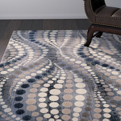 Fulop Gray Abstract Area Rug Rug Size: Rectangle 53 x 73