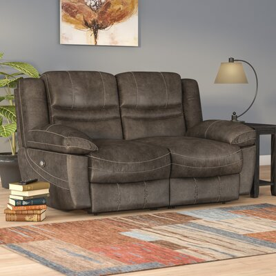 Mae Dual Reclining Loveseat Upholstery: Ash