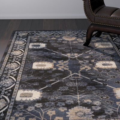 Ateao Blue Oriental Area Rug Rug Size: Rectangle 9 x 12