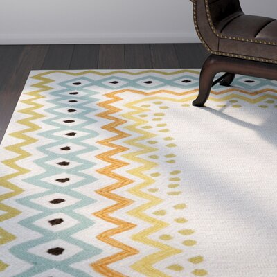 Bahri Pastel Border Indoor/Outdoor Area Rug Rug Size: Rectangle 36 x 56