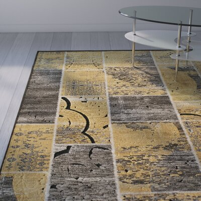 Charleena Gold Rug Rug Size: Rectangle 5 x 76