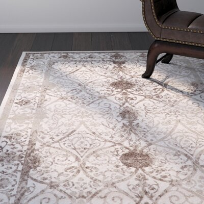 Shailene Beige/Brown Area Rug Rug Size: Rectangle 3 x 3