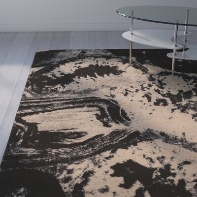 Wolfsburg Beige/Black Area Rug Rug Size: Rectangle 5 x 76