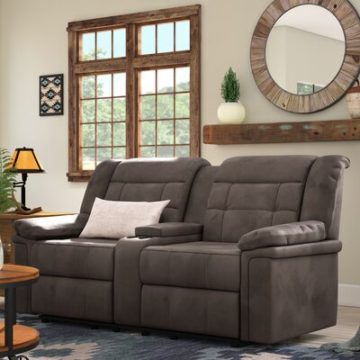 Serta Upholstery Charlestown Double Recliner Reclining Loveseat Upholstery: Tombstone Antler