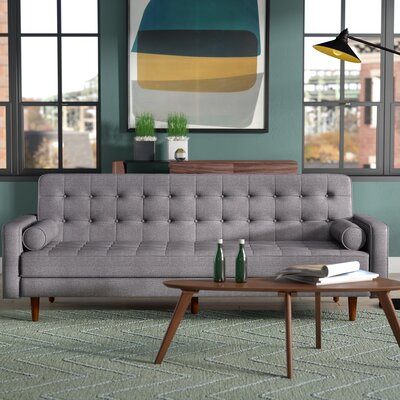 Jerry Convertible Sofa Upholstery: Charcoal