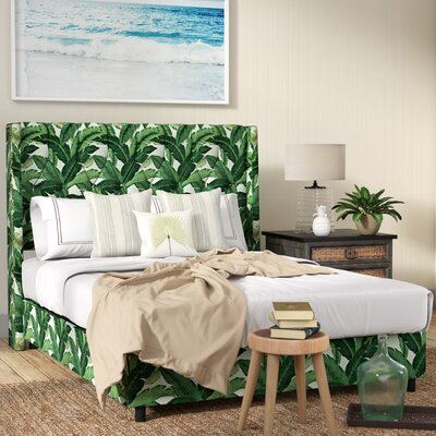 Promfret Swaying Palm Aloe Nail Button Tufted Upholstered Panel Bed Size: Queen