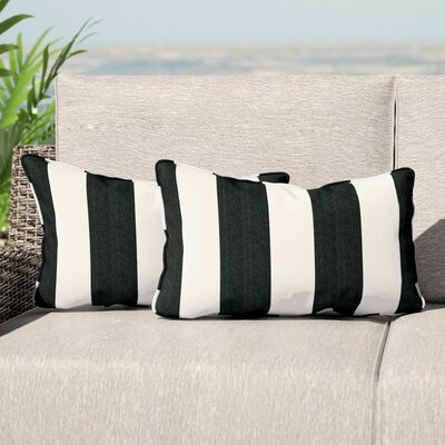 Elston Indoor/Outdoor Sunbrella Lumbar Pillow Color: Black/White