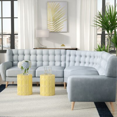 Blakeman Sectional Collection Upholstery: Blue Haze