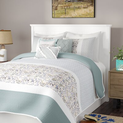 Chambery 6 Piece Coverlet Set Size: Full/Queen, Color: Blue