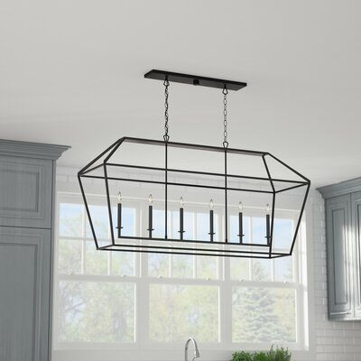 Padminie Polished Nickel 6-Light Kitchen Island Pendant Finish: Palladian Bronze