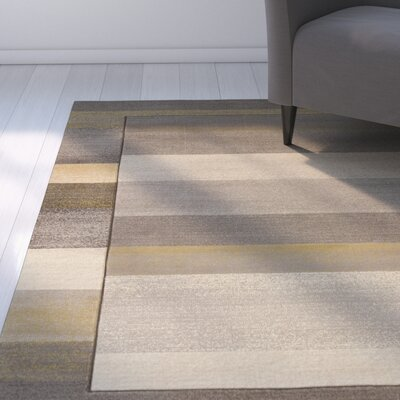 Dov Striped Grey Area Rug Rug Size: Runner 27 x 72