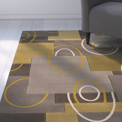 Dov Abstract Silver Area Rug Rug Size: 710 x 106