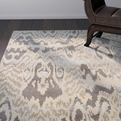 Forbis Modern Tan Abstract Area Rug Rug Size: 79 x 106