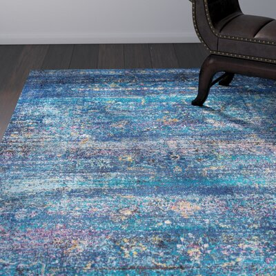 Blake Blue Area Rug Rug Size: Rectangle 4 x 6