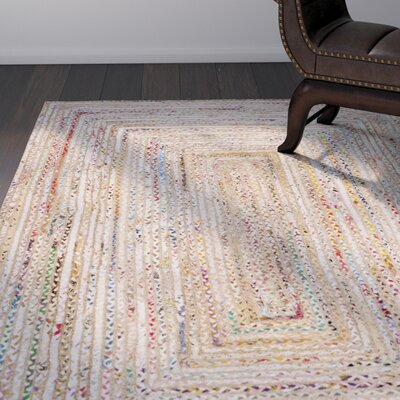 Bowen Hand-Woven Beige/Yellow Area Rug Rug Size: Oval 4 x 6