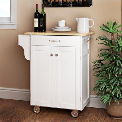 Savorey Kitchen Cart Base Finish: White