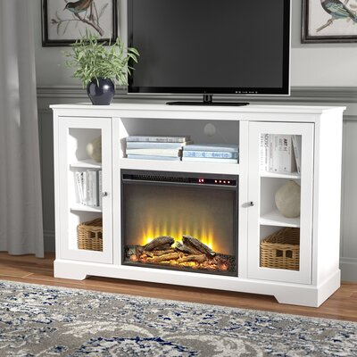 Heywood 52 TV Stand with Fireplace Finish: White
