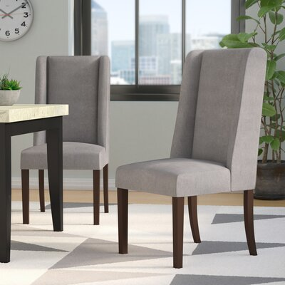 Harlow Side Chair Upholstery: Dark Gray