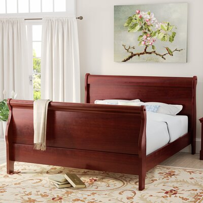 Tina Contemporary Sleigh Bed Size: Queen
