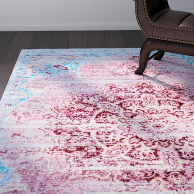 Arnav Cherry Pink Area Rug Rug Size: Rectangle 53 x 710