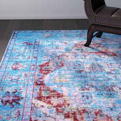 Armando Blue Area Rug Rug Size: Rectangle 9 x 12