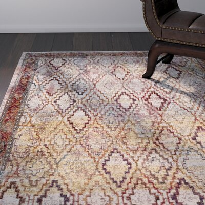 Orkney Cream/Rose Area Rug Rug Size: Rectangle 4 x 6