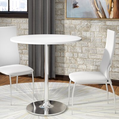 Mikaela Dining Table Top Finish: White, Size: 36H x 36 W x 36 D