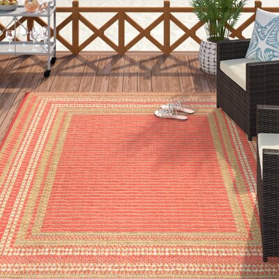 Clatterbuck Etched Pink Indoor/Outdoor Area Rug Rug Size: Rectangle 7'10