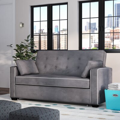 Evan Queen Sleeper Sofa Upholstery: Grey