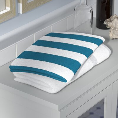 Westfield Stripe Hand Towel Color: Teal