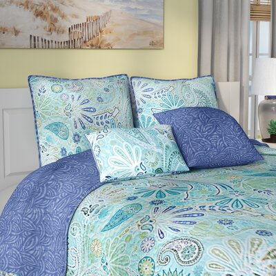 Fareham 5 Piece Reversible Coverlet Set Size: King