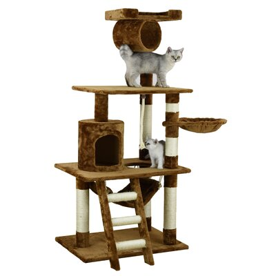 62 Mittens Cat Tree Color: Brown