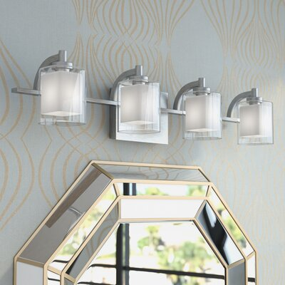 Aldrich 4-Light Vanity light Finish: Polished Chrome