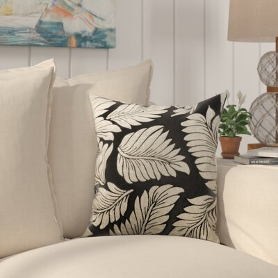 Kennebunkport Leaf Jacquard Polyester Throw Pillow