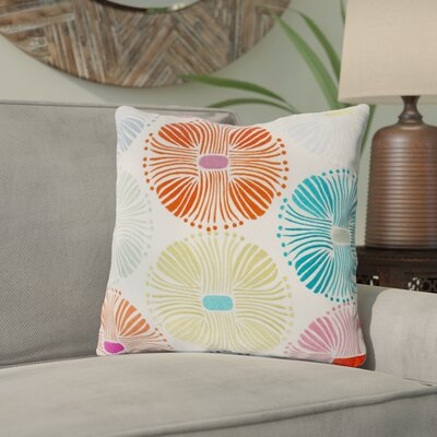 Francille Cotton Throw Pillow Size: 18 H x 18 W x 4 D, Color: Multi, Filler: Down