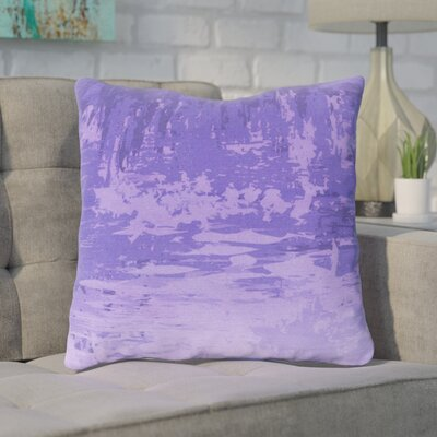 Eley Watercolor Cotton Throw Pillow Size: 22 H x 22 W x 4 D, Color: Lavender