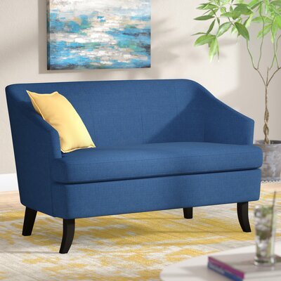 Magic Morden Loveseat Upholstery: Blue