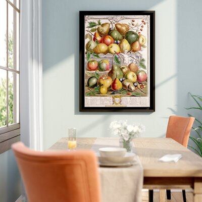 'January from Twelve Months of Fruit' Framed Graphic Art Size: 48