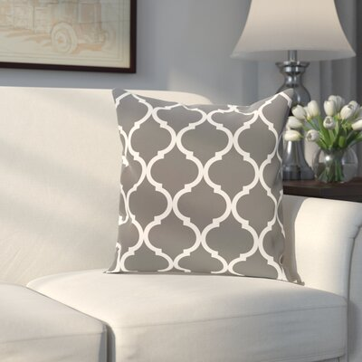 Louis Geometric Print Throw Pillow Size: 16 H x 16 W x 1 D, Color: Steel