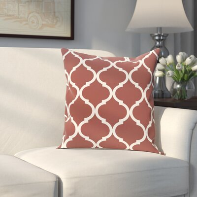Louis Geometric Print Throw Pillow Size: 16 H x 16 W x 1 D, Color: Mahogany