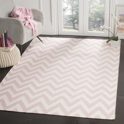 Moves Like Zigzagger Pink Area Rug Rug Size: Rectangle 5 x 8